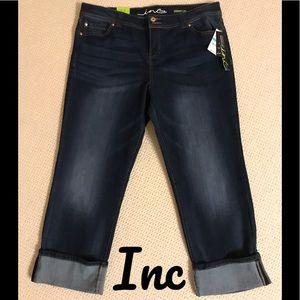 INC Denim Straight Leg Regular Fit /Crop-Size:16
